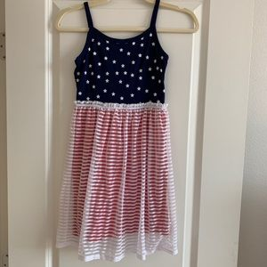 CIRCO Red White and Blue Star Printed Dress